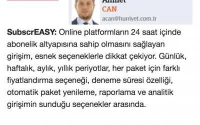 Hürriyet Gazetesi subcrEASY Haberi